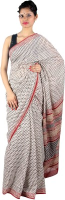 Aabeer Floral Print Daily Wear Cotton Sari