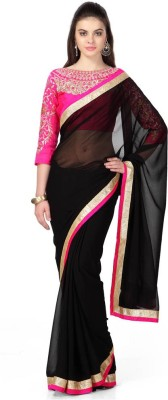 Pushty Fashion Embriodered Bollywood Georgette Sari