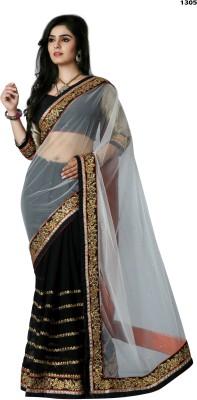 Krishna Prints Embriodered Bollywood Georgette, Net Sari