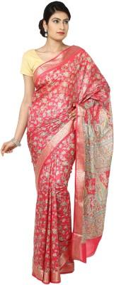 Aks Worldshop Floral Print Daily Wear Art Silk Sari