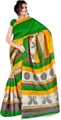 Adkfeb Solid Bhagalpuri Art Silk Sari