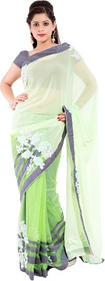 Sinjara Floral Print Fashion Georgette Sari