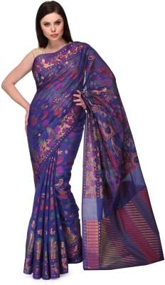 Shad Banarsi Woven Banarasi Banarasi Silk Sari(Light Blue)
