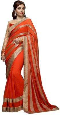 Deepak Sari Applique Katha Georgette Sari