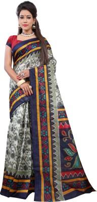 Suali Printed Bhagalpuri Silk Saree(Multicolor) at flipkart