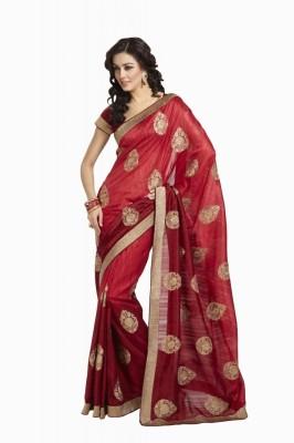 Ethnic Dukaan Self Design Fashion Silk Sari