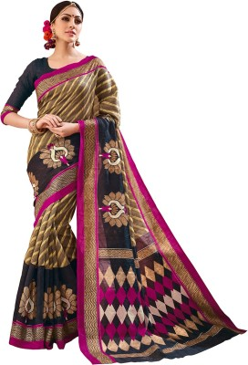 Sunaina Printed Fashion Silk Cotton Blend Sari