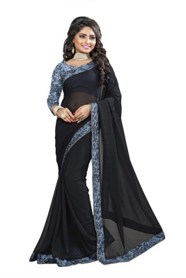 Omkarcreation Floral Print Bollywood Chiffon Sari