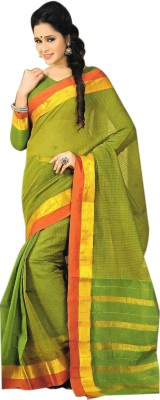 Madhevi Checkered Fashion Cotton Sari