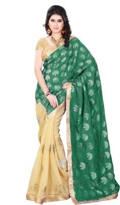 Diva Fashion-Surat Embriodered Bollywood Handloom Jacquard, Georgette Sari