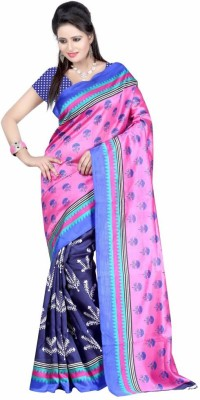 U Enterprises Printed Bollywood Art Silk Sari