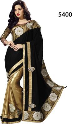 Parvati Fabrics Embriodered Fashion Velvet Sari