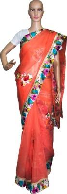 Prateeti Applique Fashion Cotton Linen Blend Sari