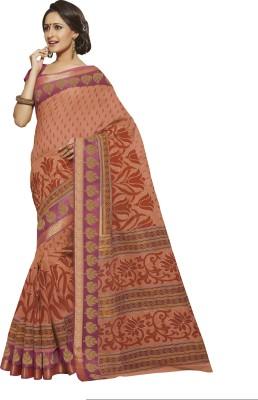 Vastrangsarees Printed Gadwal Cotton, Silk Sari