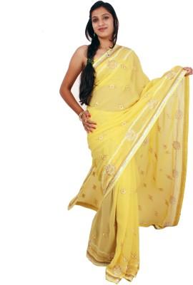 Shree Ji Embriodered Daily Wear Pure Georgette Sari