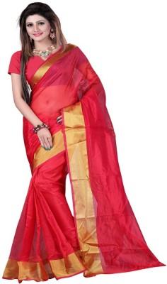 Anglefashion Self Design Fashion Art Silk Sari