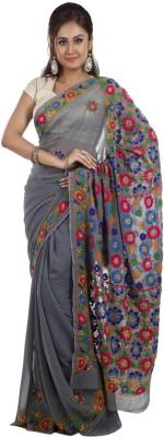 Nirguna Embriodered, Embellished Fashion Georgette Sari