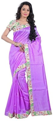manish chirania Plain Banarasi Polycotton Sari