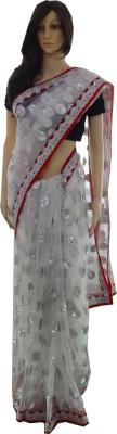 INDIANA FAB Embellished, Embriodered Fashion Net Sari