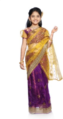 Bhartiya Paridhan Self Design Fashion Net Sari