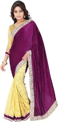 Skyblue Fashion Embriodered Fashion Velvet Sari