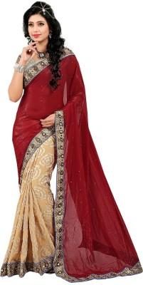 Unique Exim Floral Print Fashion Chiffon Sari