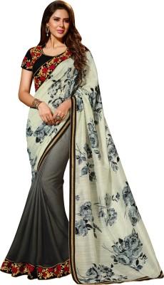 Crafts N Culture Self Design Fashion Georgette, Jacquard Sari