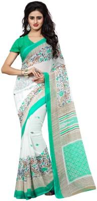 Fabdeal Floral Print Fashion Chiffon Sari