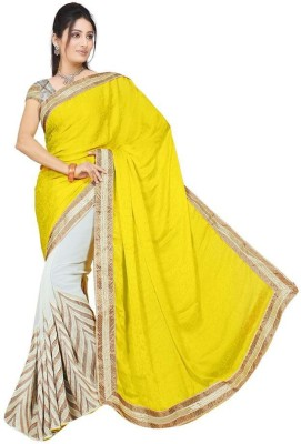 Manish Chirania Embriodered Bollywood Synthetic Georgette Sari