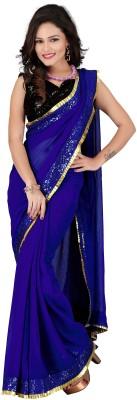 Ruchi Creation Self Design Bollywood Chiffon Sari