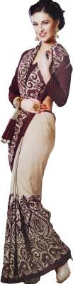 Shaarada Printed Fashion Synthetic Crepe Sari