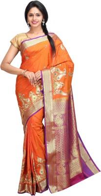 JCN Embriodered Mysore Silk Sari