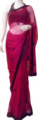 Aarzoo Self Design Fashion Net Sari