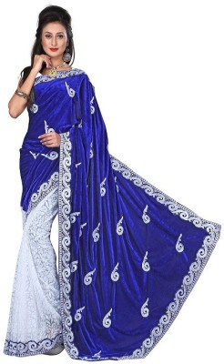 Regalia Ethnic Embriodered Fashion Velvet Sari
