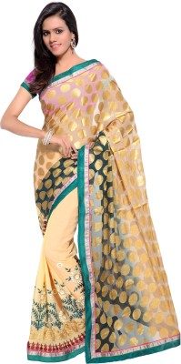 Kalista Fashions Embriodered Bollywood Brasso Sari