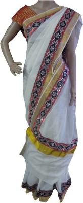 Mosanta De Boutique Solid, Self Design Balarampuram Handloom Cotton Sari