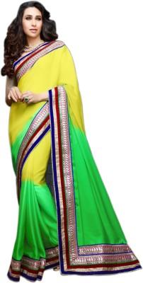 Meher Fashions Plain Bollywood Satin Sari