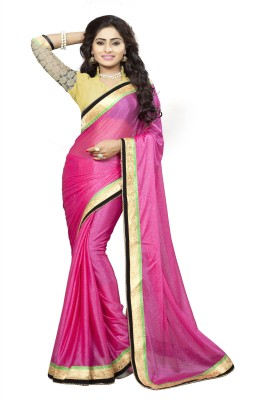Om Shree Vallabh Self Design Bollywood Lycra Sari