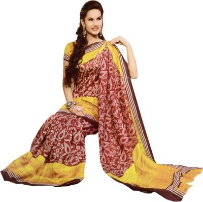 Trendiez Printed Fashion Silk Cotton Blend Sari