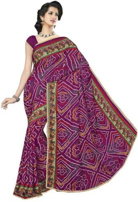 Rinkle Printed Bandhani Chiffon Sari