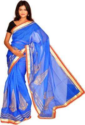 Jagadamba Solid Bollywood Linen Sari