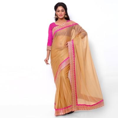 Ziyaa Solid Fashion Lycra Sari