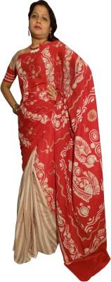 KheyaliBoutique Graphic Print Hand Batik Cotton Sari