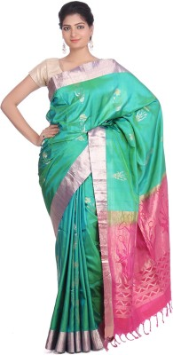 Indian Artizans Woven Jamdani Silk Sari