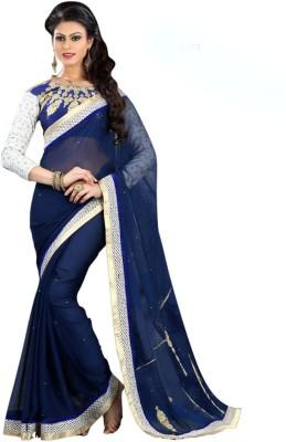 Dhnet Embriodered Fashion Handloom Georgette Sari