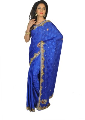 Vasundhara Lifestyle Self Design Fashion Crepe, Jacquard Sari