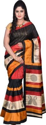 Glamorous Lady Striped Bhagalpuri Silk Cotton Blend Sari