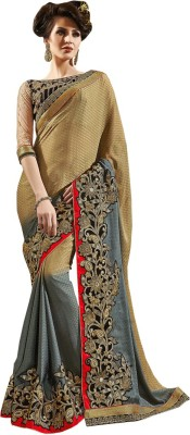 Bharti Prints Embriodered Fashion Crepe Sari
