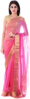 Shri Krishnam Embriodered, Embellished, Paisley Fashion Chiffon Sari