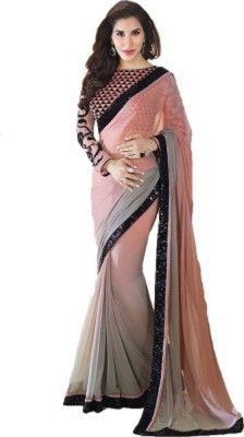 H.P.D Embriodered Bollywood Handloom Georgette Sari